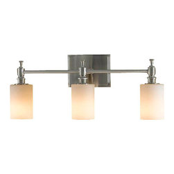 Murray Feiss - 3 Bulb Brushed Steel Vanity - - UL Approved.