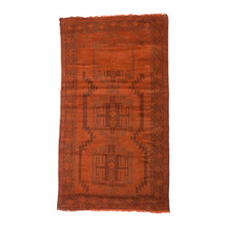 West of Hudson - Overdyed Vintage Tribal Burnt Orange  Rug, 3.5x6.3 Ft. - Handknotted one of a kind over-dyed rug with vibrant colors. West of Hudson is proud to offer authentic vintage and new hand knotted rugs that that are carefully selected for our exclusive overdye collection. Each rug is a unique work of art. 100% handmade from start to finish.