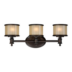 Vaxcel - Carlisle Light Vanity - Vaxcel CR-VLU003NB Carlisle Noble Bronze 3 Light Vanity