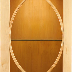 KraftMaid: Palladia with Bistro Glass - Palladia features a solid-wood door with Bistro glass inserts.