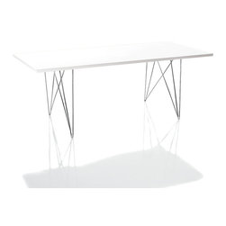 Magis - Magis Tavolo XZ3 Table - Check out the shapely gams on this modern table. Angular, sculptural and oh-so-chic, the legs are made of chrome-plated steel and support a clean, white modern slab of MDF. There's plenty of room to hold your feast and plenty of room to feast your eyes upon the shapely legs under it.