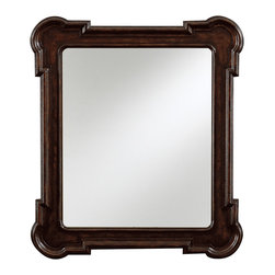 Stanley Furniture - European Farmhouse Captain's Fluted Edge Mirror - This classy European Farmhouse Captain's Fluted Edge Mirror is a perfect choice for a bedroom or dressing room. It is surely a decorative piece which is capped on all sides with rounded inset mirror which provides stability. It also features multiple hooks for easy hanging and flexibility.