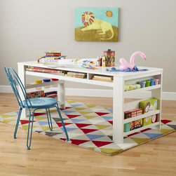 Compartment Department Play Table, White - I love this desk for little learners. There's enough tabletop and storage space for craft-heavy assignments.