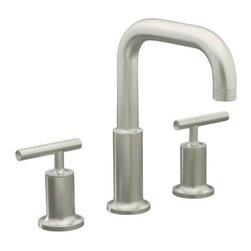 KOHLER - KOHLER K-T14428-4-BN Purist Deck-Mount High Flow Bath Faucet Trim - KOHLER K-T14428-4-BN Purist Deck-Mount High Flow Bath Faucet Trim with Lever Handles in Brushed Nickel