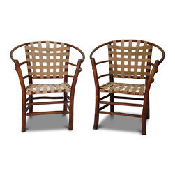 Consigned Vintage Adirondack Arm Chairs - 35 h x 29 w x 25 d (dimensions are approximate)