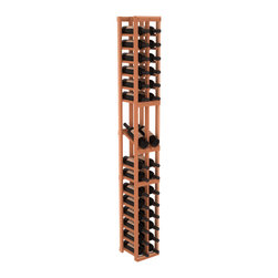 Wine Racks America - 2 Column Display Row Wine Cellar Kit in Redwood, (Unstained) - Make your best vintage the focal point of your wine cellar. High-reveal display rows create a more intimate setting for avid collectors wine cellars. Our wine cellar kits are constructed to industry-leading standards. You'll be satisfied. We guarantee it.