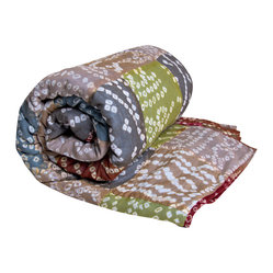 KOKO - Cotton Tie-dye Throw, Earth - Tie dye gets a sophisticated update when done in delicate detail with muted, rich colors, as in this soft throw. The eclectic look would be a pretty accent on any bed or sofa.