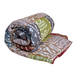 KOKO - Tie-Dye Throw, Earth - Tie dye gets a sophisticated update when done in delicate detail with muted, rich colors, as in this soft throw. The eclectic look would be a pretty accent on any bed or sofa.
