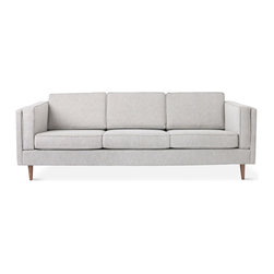 Gus Modern - Adelaide Sofa, Burnaby Summit - The Adelaide Sofa by Gus Modern is a classic club sofa frame that harkens back to Mid-Century archetypes. Structured side cushions lend a vintage look, and provide added comfort.  The sofa frame and tapered legs are FSC-Certified wood, in support of responsible forest management.