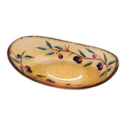 ATD - 7.38 Inch Purple and Green Olive Branch Amber Glass Oval Dish - This gorgeous 7.38 Inch Purple and Green Olive Branch Amber Glass Oval Dish has the finest details and highest quality you will find anywhere! 7.38 Inch Purple and Green Olive Branch Amber Glass Oval Dish is truly remarkable.