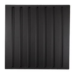 """Southland Ceiling Tile - Black - Perfect for both commercial and residential applications, these tiles are made from thick .03"""" vinyl plastic. Their lightweight yet durable construction make these tiles easy to install. Waterproof, these tiles are washable and won't stain due to humidity or mildew. A perfect choice for anyone wanting to add that designer touch at an amazing price."""