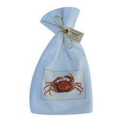 Mud Crab    Flour Sack Towel  Set of 2 - A fabulous set of 3 flour sack towels. This set features a wonderful antique print of a Mud Crab.   These towels are printed in the USA by American Workers!