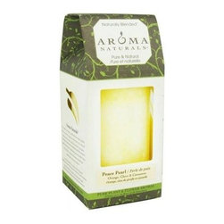 Aroma Naturals Pillar Candle - Peace White - 2.5 Inches X 4 Inches - Aroma Naturals Pillar Candle - Peace White - 2.5 Inches X 4 Inches