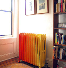 eclectic  Painted radiator - Brooklyn, NY- by Wary Meyers Decorative Arts