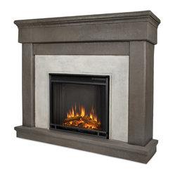 cascade dune stone electric firebox mantel the cascade mantel features an elegant classic. Black Bedroom Furniture Sets. Home Design Ideas