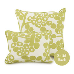 "Oilo - 13"" x 17"" Modern Berries Pillow, Spring Green - Sophisticated berries are the perfect accent for your bed or couch. These ecofriendly pillows are filled with dacron and 100 percent woven cotton. They make a cozy statement in a modern home."