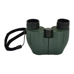 Picnic at Ascot - Compact Binoculars, Grey Green by Picnic at Ascot - Our Compact Binoculars in Grey Green by Picnic at Ascot is made from a durable aluminum die cast body with non-slip rubber armor. It has fully coated optics for superior light transmission and brightness. Great for traveling, concerts, hiking and sporting events.