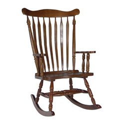 International Concepts Colonial Rocking Chair - Cottage Oak