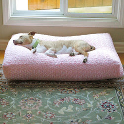Frontgate - Animals Matter Katie Pet Bed Dog Bed - Pillow is crafted using the same construction method as a sofa cushion. Generously overstuffed pillow is more than 5 inches thick and filled with garneted fiber that is rolled to prevent loss of shape or flattening. Removable pillow cover and blanket are machine-washable. Our Animal Matters Chenille Katie Pet Bed and Blanket pampers your pet while enhancing your home decor. This posh dog bed doubles as a beautiful home accent and floor pillow. Upholstered in a luxurious double weave chenille, the pet cushion is as durable as it is buttery soft. A matching blanket completes the look and wraps your canine in comfort and warmth. . . . Made in the USA.