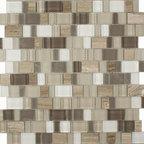 Glass & Stone Mosaic - Ceramic Tileworks - Nightfall Mosaic / Moonbeam
