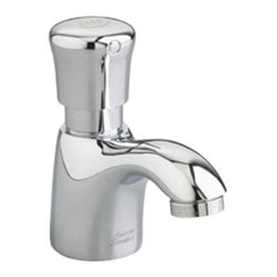 American Standard - American Standard 1340.M105.002 Pillar Tap Metering Faucet w/Mixing Valve-Chrome - American Standard 1340.M105.002 Pillar Tap Metering Faucet with Mixing Valve, Polished Chrome. This metering faucet features a cast spout, a 1.5 GPM pressure compensating vandal-resistant aerator, an easy-push handle, and an automatic shut-off to reduce water and energy waste. This model comes with a mechanical mixing valve.
