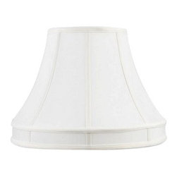Livex Lighting Inc - Livex Silk Lamp Shade White Shantung Silk Shade -S537 - Washer Top Fitter
