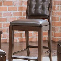 """American Drew - Tribecca Leather Bar Stool (Set of 2) - Tribecca mixes it up with modern, Art Deco, and Asian influences. Lighter scaled, with classic clean lines and pared down forms, Tribecca's inviting textures, rich wood tones and nickel finish hardware could be just the fresh look you've been trying to imagine for the new retirement condo on the shore or a trendy city loft. The Tribecca Leather Bar stool will be the perfect complement to the Tribecca gathering table. It will be the essential casual gathering set. Features: -Upholstered leather bar stool. -Rich wood tones and nickel finish hardware. -Available in a root beer finish. -Barstools packed one per carton. -Dimensions: 40"""" H x 18"""" W x 21"""" D. -Seat height: 25"""". -Suited for Residential use only. About American Drew Founded in 1927, American Drew is a well-established, leading manufacturer of bedroom furniture, dining room furniture and occasional furniture. American Drew's product collections cover a broad variety of style categories including traditional furniture, transitional furniture, and contemporary furniture. Their collections range from the legendary 18th Century traditional """"Cherry Grove, celebrating its 42nd year of success, to the extremely popular """"Bob Mackie Home Collection"""", influenced by the world-renowned fashion designer, Bob Mackie. """"Jessica McClintock Home - The Romance Collection"""" debuted in October 2000 with 50 uniquely designed pieces of bedroom, dining room and occasional furniture. Fashion designer Jessica McClintock is known for her romantic formal wear and now the designer has extended that look with a home furnishings collection. Looking for bedroom furnishings, check out the offerings of bed frames, bedroom sets, armoires, dressers and bedroom chests. Furnish your dining room with an exquisite dining room table, dining chairs, china cabinets, buffet hutches and servers. Entertainment furniture is also plentiful with a wide variety of entertainment centers, TV stand, coffee ta"""