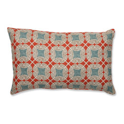 Pillow Perfect - Pillow Perfect Ferrow Rectangular Throw Pillow - These beautiful toss pillows give you all three colors without being too much. I love the hint of gray as well.