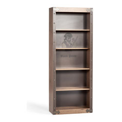 """Cilek - Navigation Bookcase - Store you Treasure Maps, Knowledge, Captain's Diaries and preserve your legacy as a pirate aboard the """"Black Pirate"""" ship. Made from the sturdiest wood to harbor your most valuable treasures in this spacious Navigation Bookcase."""