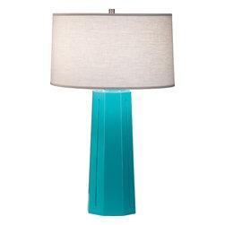 Robert Abbey - Mason Table Lamp, Egg Blue - -1-150W Max.