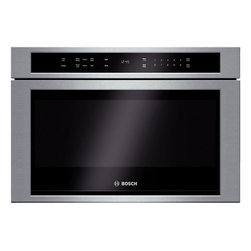 None - Bosch 800 Series 24-inch Stainless Steel Built-in Microwave Drawer - Bosch 800 Series HMD8451UC 24 built-in microwave drawer features 950 cooking watts,with 10 power levels and automatic sensor programs. Complete with touch open/close and LCD white display,this unit offers glass touch controls.