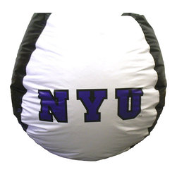 "Bean Bag Boys - New York Violets Bean Bag - At only ten pounds in weight, this affordable bean bag chair can easily be transported between locations, from whether you want to watch the New York Violets at your own place or your friends' - and it's a surefire way to let everyone know who you support. * Durable vinyl constructionBean bag features logo for New York Violets 30"" X 30"" 36"". 112"" Circumference10 lbs."