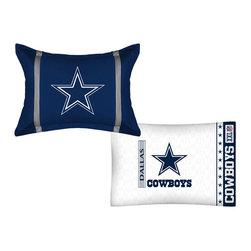 Store51 LLC - NFL Dallas Cowboys MVP Pillow Sham Pillowcase Set - Features: