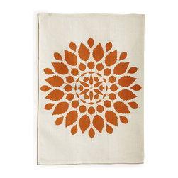 "Bambeco Brittany Linen Tea Towel in Copper - Hand-printed with water-based inks on natural linen in the USA, the Brittany Linen Tea Towel in Copper is the perfect kitchen accomplice. The copper-colored leafy mandala brings a sense of warmth and nature into your kitchen. The 100% linen fabric is sturdy, absorbent and becomes softer with each use. Use these towels to dry the dishes, cushion a bowl, protect your hands, wrap a gift or set a table. They're a natural, reusable and responsible alternative to paper.Linen may be one of the oldest textiles in the world, dating back to approximately 8,000BC; it is the strongest of the vegetable fibers, smooth and lint free. Linen is highly absorbent and easily dyed; the color will not fade with washings.Available colors: Mineral, Willow and Copper.Dimensions: 18""W x 26""H.Note: Limited Quantities Available."