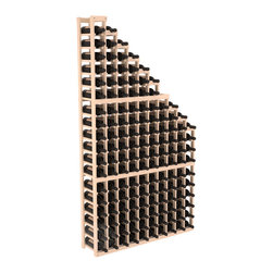 Wine Cellar Waterfall Display Kit in Pine with Satin Finish - A beautiful cascading waterfall of wine bottle displays. Create a spectacle of 9 of your favorite vintages. Designed within our modular specifications and to Wine Racks America's superior product standards, you'll be satisfied. We guarantee it.