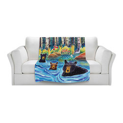 DiaNoche Designs - Fleece Throw Blanket by Harriet Peck Taylor - Cooling Off - Original Artwork printed to an ultra soft fleece Blanket for a unique look and feel of your living room couch or bedroom space.  DiaNoche Designs uses images from artists all over the world to create Illuminated art, Canvas Art, Sheets, Pillows, Duvets, Blankets and many other items that you can print to.  Every purchase supports an artist!