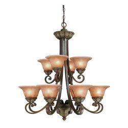 Dolan Designs - Dolan Designs 822-38 Windsor Sante Fe 12 Light Chandelier - Dolan Designs 822-38 Bronze Foyer Lighting