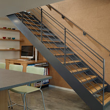 Midcentury Staircase by Lane Williams Architects