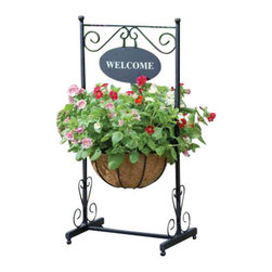 Gardman USA - Blacksmith Welcome Planter - Blacksmith Welcome Planter. Attractive welcome planter looks good on a patio, porch, or pathway. Self assembly with the minimum of assembly time required.