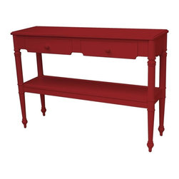 EuroLux Home - New Console Red Painted Hardwood Provence - Product Details