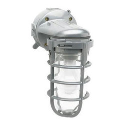 Coleman Cable - Weather Tight Light - L1707SV - 100 watt Incandescent Weather Tight Light, all metal construction, tempered glass lens, wall mount, IPS thread on top and sides, 100 Watt max bulb (not included).