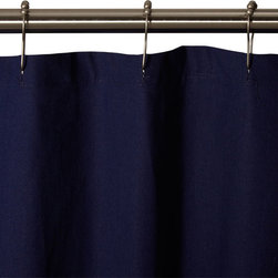 Cotton Duck Shower Curtain - Dark Blue - Made from heavy-duty 100% duck cloth, this Dark Blue shower curtain is a great centerpiece for your bathroom.