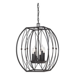 Quoizel Lighting - Fixture ChandelierQuoizel Fixture Collection - Cage chand Imperial Bronze