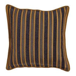Dian Austin Couture Home - Striped European Sham - INK/GOLD (EUROPEAN) - Dian Austin Couture HomeStriped European ShamDesigner About Dian Austin Couture Home:Taking inspiration from fashion's most famous houses of haute couture the Dian Austin Couture Home collection features luxurious bed linens and window treatments with a high level of attention to detail. Acclaimed home designer Dian Austin introduced the collection in 2006 and seeks out extraordinary textiles from around the world crafting each piece with local California artisans.
