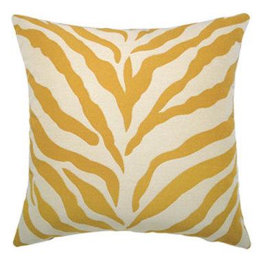 """New Elaine Smith Pillows - Kaleidoscope Zebra Gold - 20"""" x 20"""" Elaine Smith Pillows"""