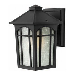 Hinkley Lighting - Hinkley Lighting 1980BK Cedar Hill Black Outdoor Wall Sconce - Hinkley Lighting 1980BK Cedar Hill Black Outdoor Wall Sconce