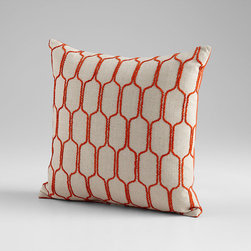 Cyan Design - Building Blocks Pillow - Building blocks pillow - orange