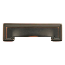 """Hickory Hardware - Studio Collection Oil-Rubbed Bronze Cup Cabinet Pull, 3"""" - Bridges contemporary and traditional design. Offering a deep rooted sense of history in some, with an updated feel and cleaner lines."""
