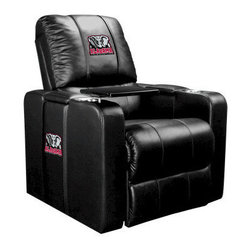 Dreamseat Inc. - University of Alabama NCAA Elephant Home Theater Plus Leather Recliner - Check out this Awesome Leather Recliner. Quite simply, it's one of the coolest things we've ever seen. This is unbelievably comfortable - once you're in it, you won't want to get up. Features a zip-in-zip-out logo panel embroidered with 70,000 stitches. Converts from a solid color to custom-logo furniture in seconds - perfect for a shared or multi-purpose room. Root for several teams? Simply swap the panels out when the seasons change. This is a true statement piece that is perfect for your Man Cave, Game Room, basement or garage. It combines contemporary design with the ultimate comfort from a fully reclining frame with lumbar and full leg support.