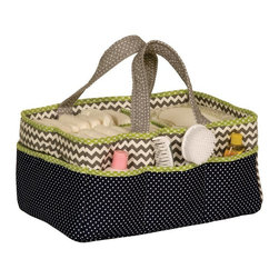 Trend Lab - Trend Lab Perfectly Preppy Storage Caddy - 102333 - Shop for Diaper Stackers from Hayneedle.com! Get organized on the go with the Trend Lab Perfectly Preppy Storage Caddy. This useful and attractive caddy has eight outer pockets and a large inner compartment with optional divider to make smaller compartments. Not only functional it's also super cute with an array of patterns and a modern color scheme. The caddy measures 13 x 9 x 7 inches. Spot clean only.About Trend LabFormed in 2001 in Minnesota Trend Lab is a privately held company proudly owned by women. Rapid growth in the past five years has put Trend Lab products on the shelves of major retailers and the company continues to develop thoroughly tested high-quality baby and children's bedding decor and other items. Trend Lab continues to inspire and provide its customers with stylish products for little ones. From bedding to cribs and everything in between Trend Lab is the right choice for your children.